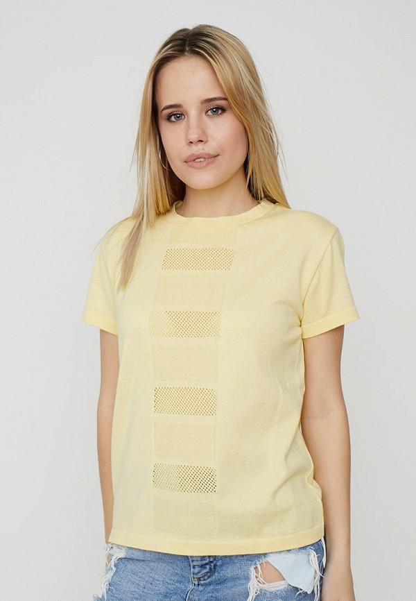женская футболка прованс, желтая