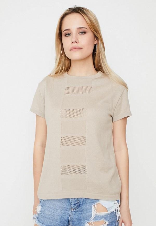 женская футболка прованс, бежевая