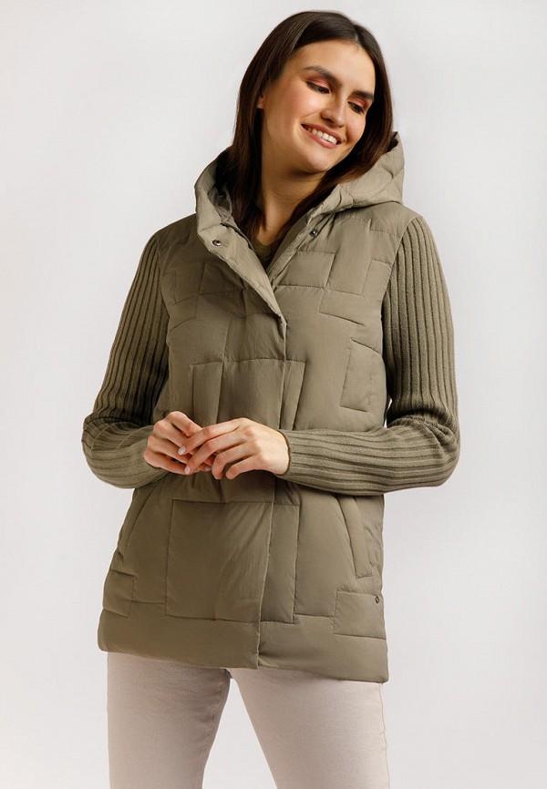 женская утепленные куртка finn flare, коричневая