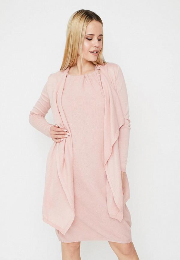 женский кардиган прованс, розовый