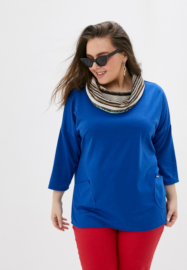 женская туника miss lora, синяя