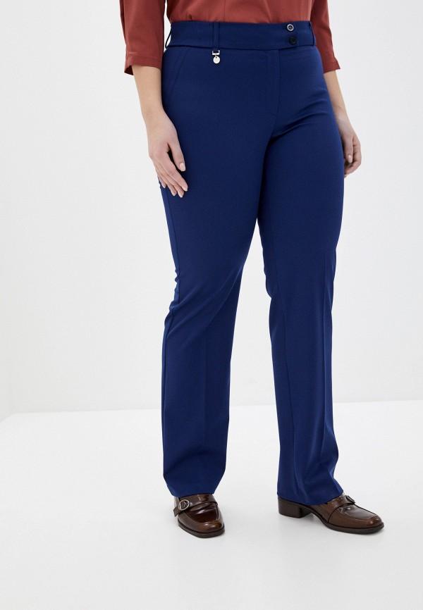женские зауженные брюки antiga, синие