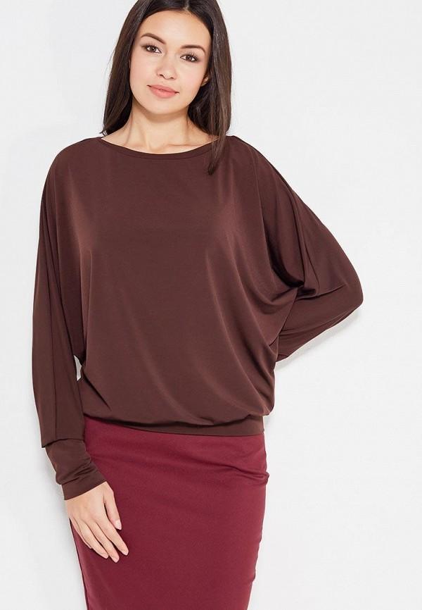 женская блузка с длинным рукавом alina assi, коричневая