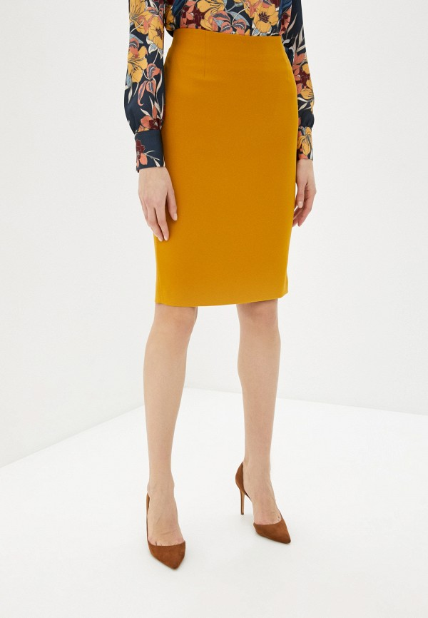 женская юбка мини samos fashion group, желтая