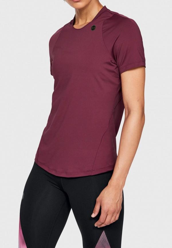 женская спортивные футболка under armour, бордовая