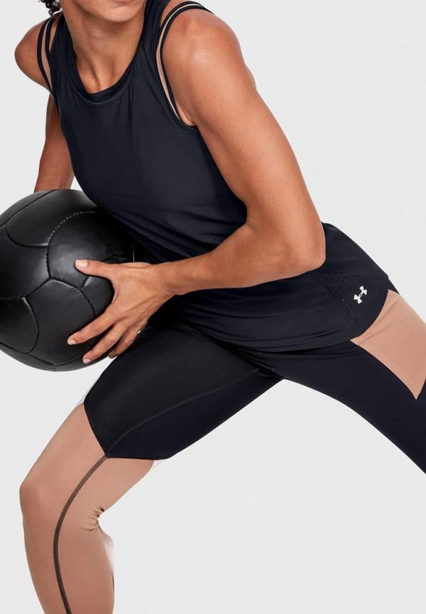 женская спортивные майка under armour, черная
