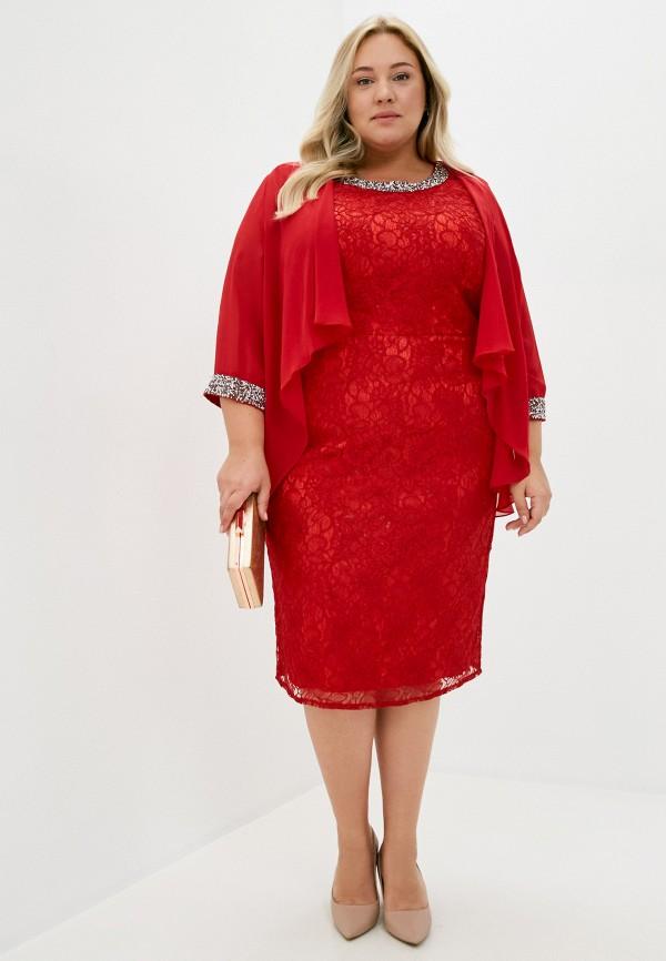 женское платье макси milomoor, красное