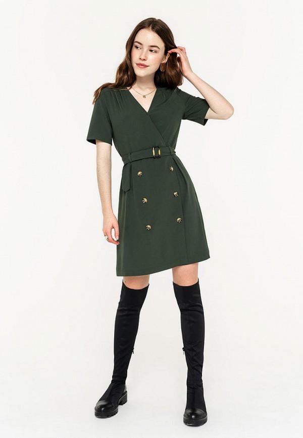 Фото 2 - Женское платье Befree зеленого цвета