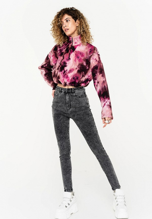 Фото 2 - Женские джинсы Befree серого цвета