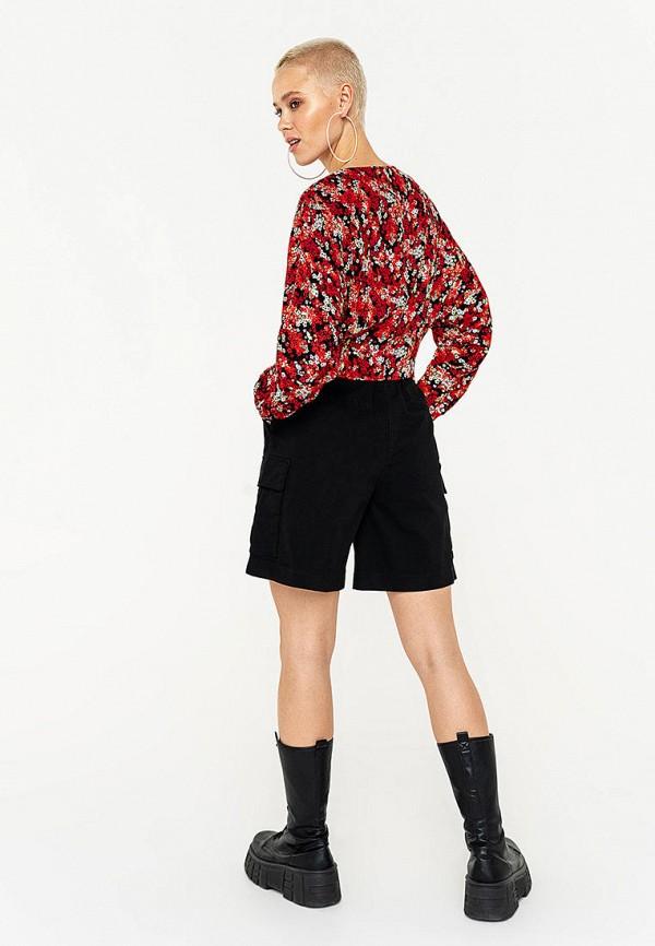 Фото 3 - Женские шорты Befree черного цвета