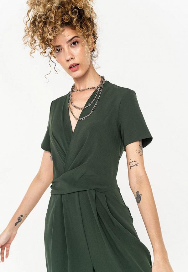 Фото 2 - Женский комбинезон Befree зеленого цвета