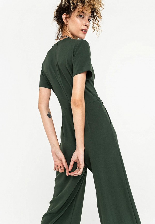 Фото 3 - Женский комбинезон Befree зеленого цвета