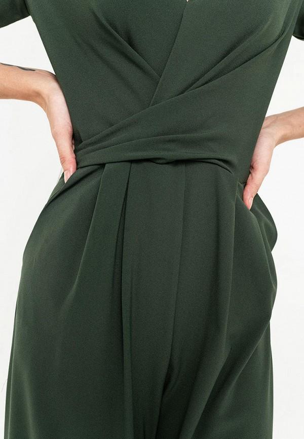 Фото 4 - Женский комбинезон Befree зеленого цвета