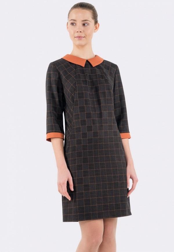 женское повседневные платье cat orange, коричневое