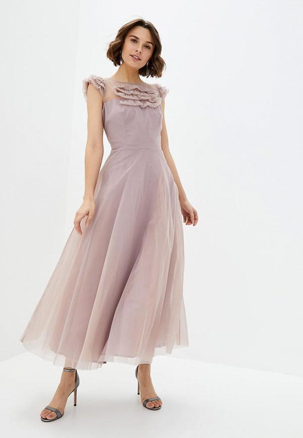 женское вечерние платье arefeva, розовое
