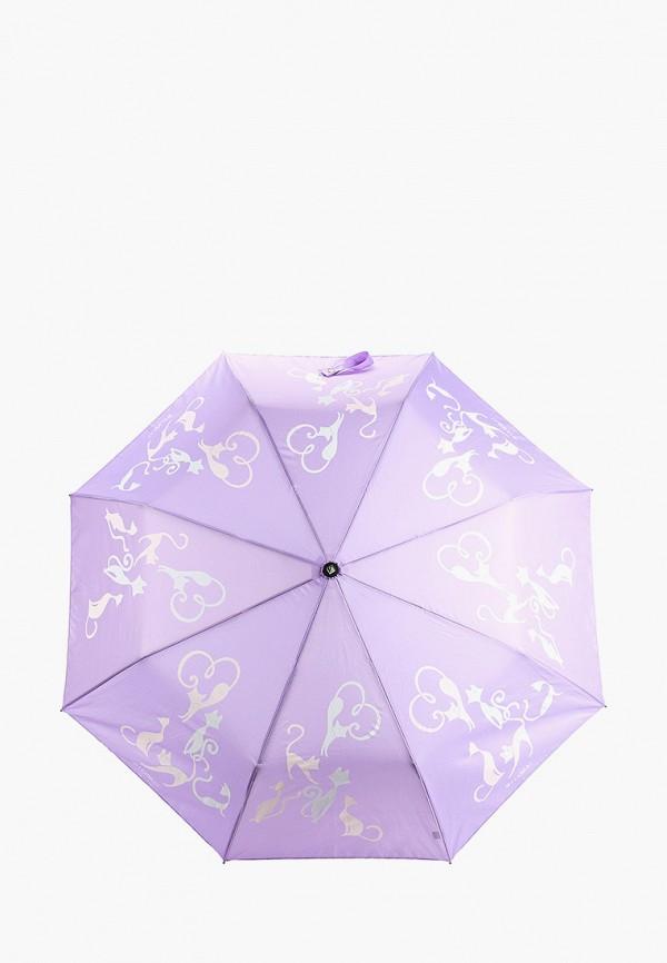 женский складные зонт flioraj, фиолетовый
