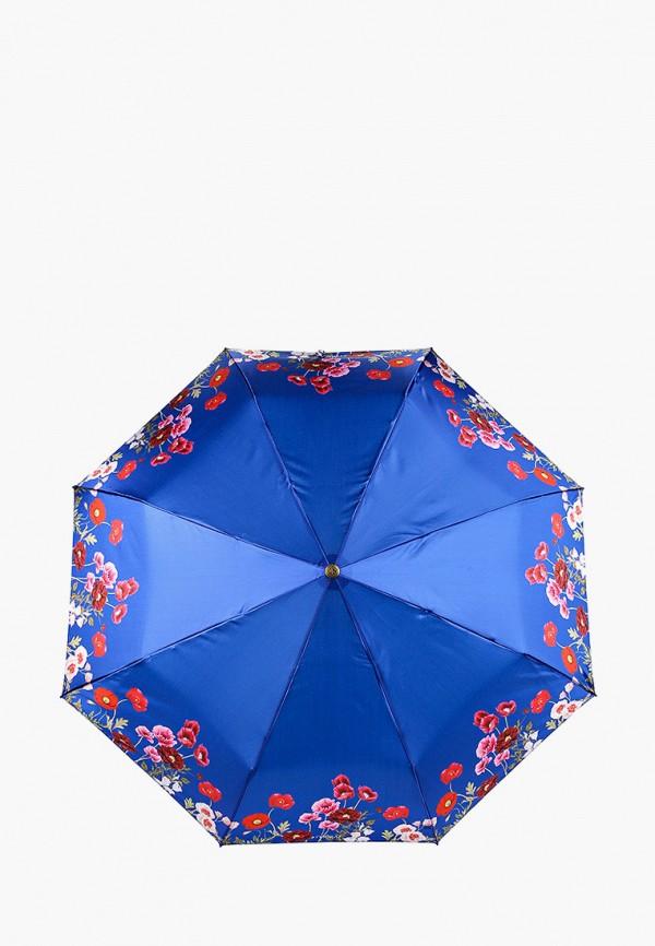 женский складные зонт flioraj, синий