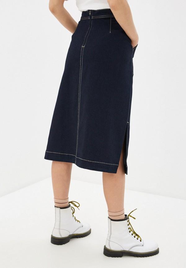 Фото 3 - Юбку джинсовая Befree синего цвета