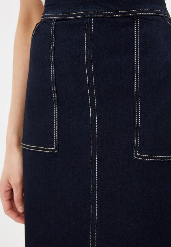 Фото 4 - Юбку джинсовая Befree синего цвета