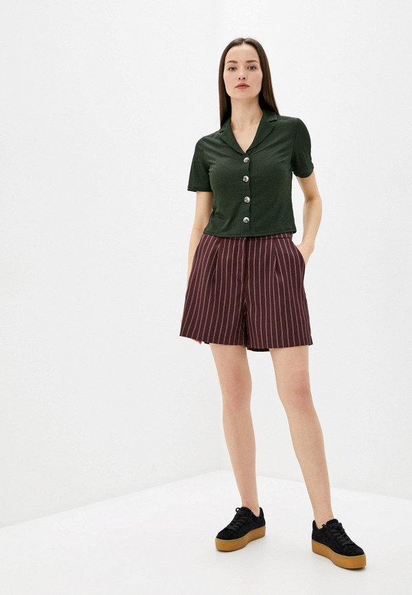 Фото 2 - Женские шорты Befree коричневого цвета
