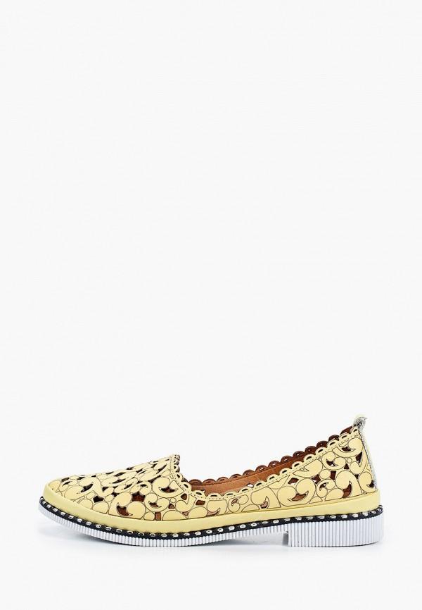 женские туфли с закрытым носом pierre cardin, желтые