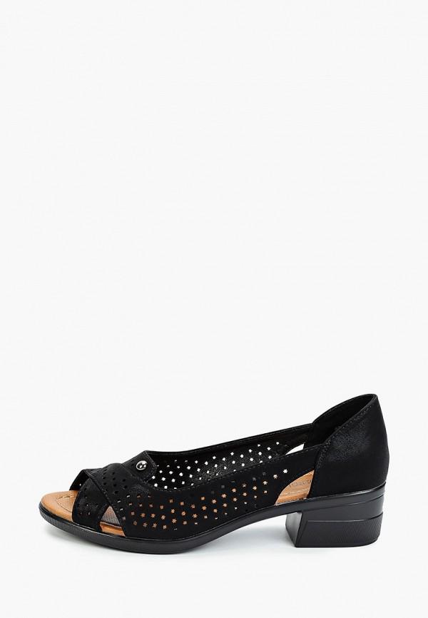 женские туфли с открытым носом t.taccardi, черные