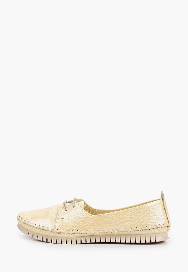 женские туфли с закрытым носом alessio nesca, желтые