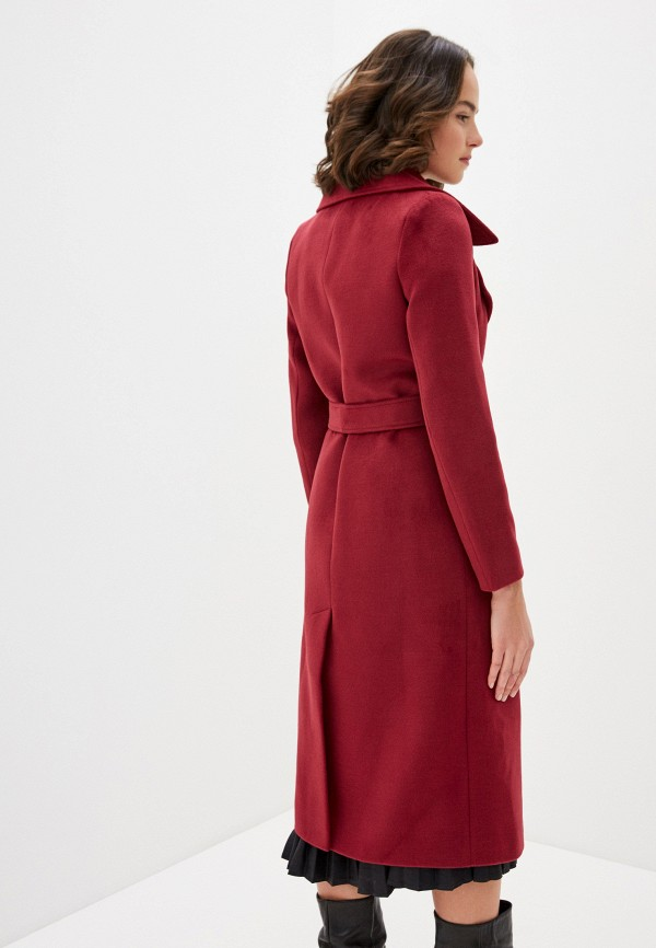 Фото 3 - Пальто Vivaldi бордового цвета