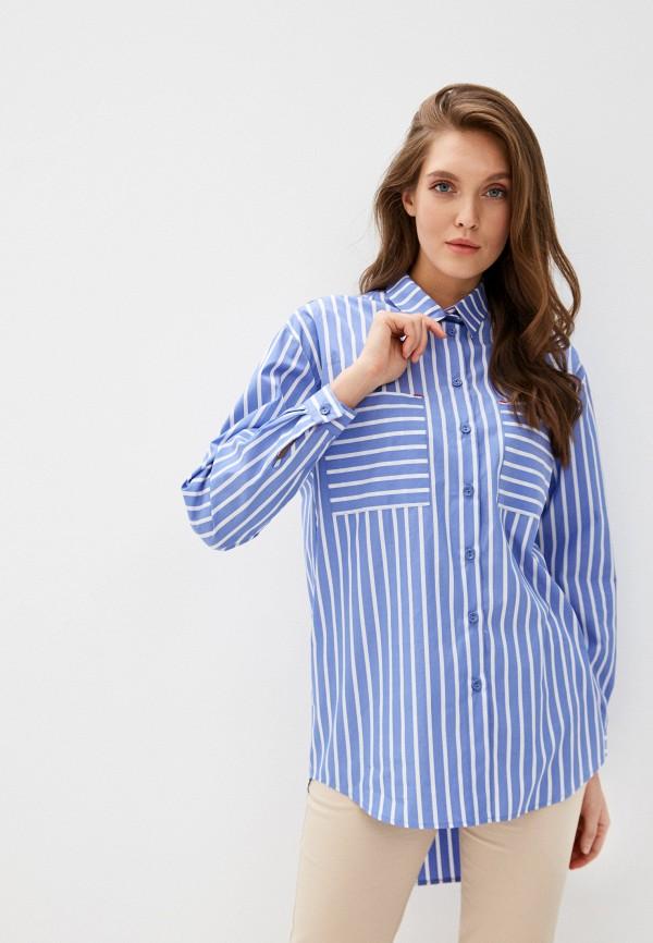 женская рубашка с длинным рукавом danmaralex, голубая