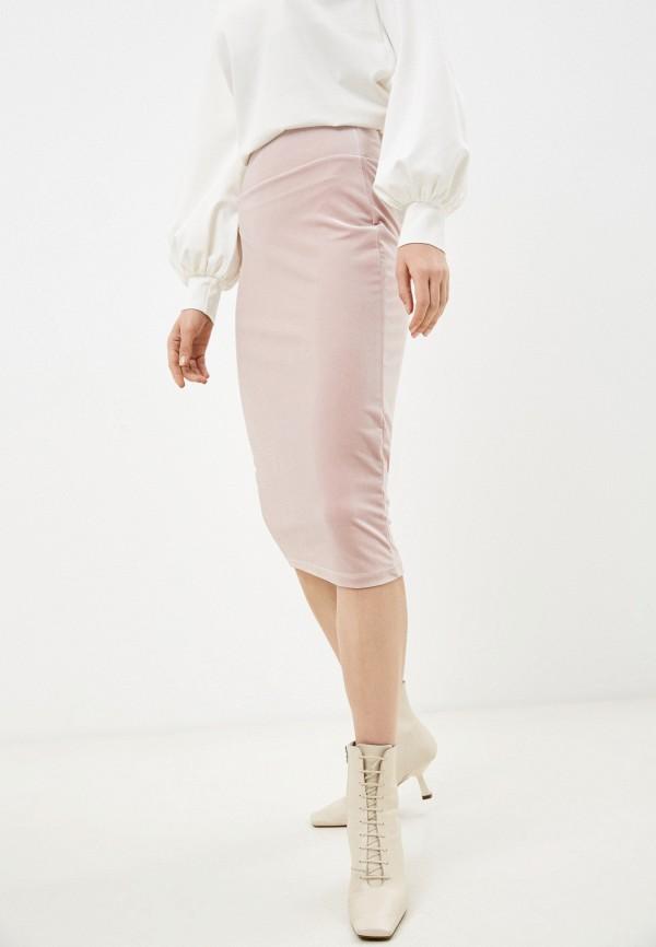 женская прямые юбка alina assi, розовая