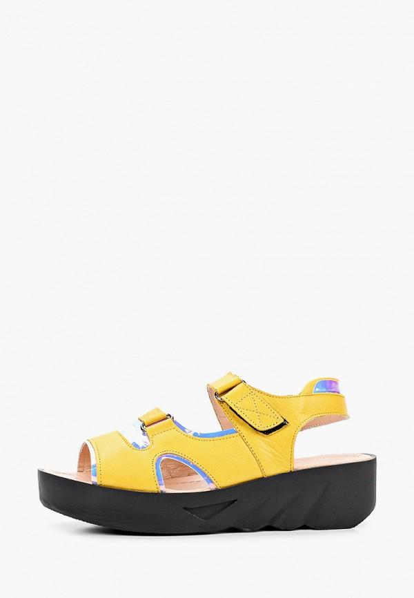 женские сандалии alessio nesca, желтые