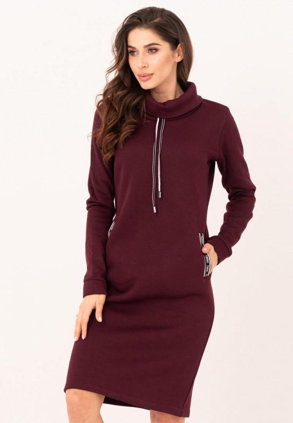 женское платье magnet, бордовое