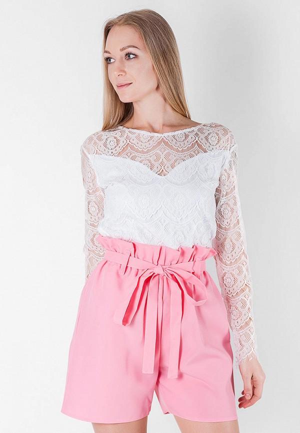 женские повседневные шорты подіум, розовые