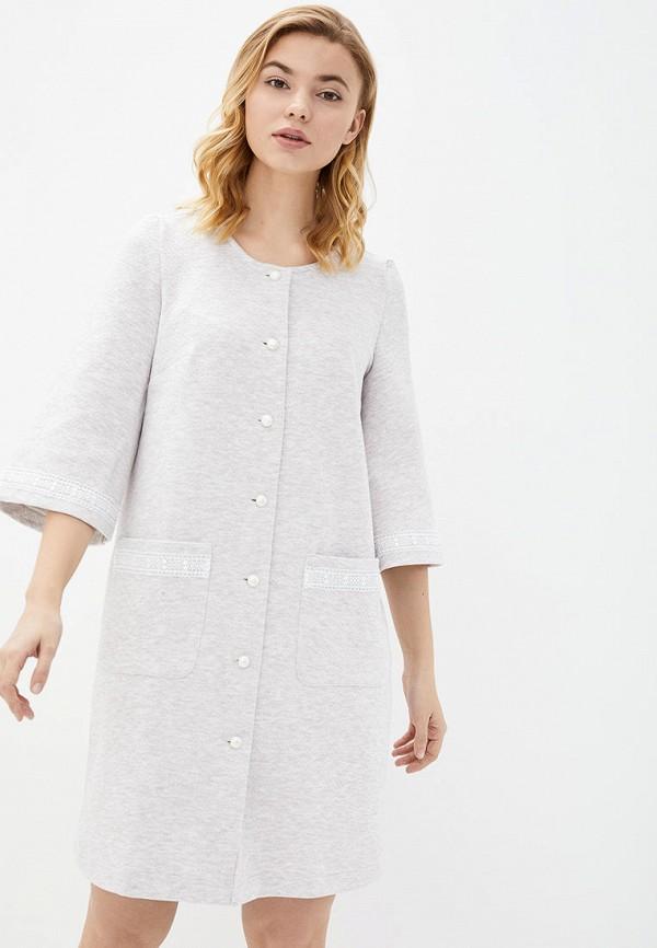 женский халат german volf, серый
