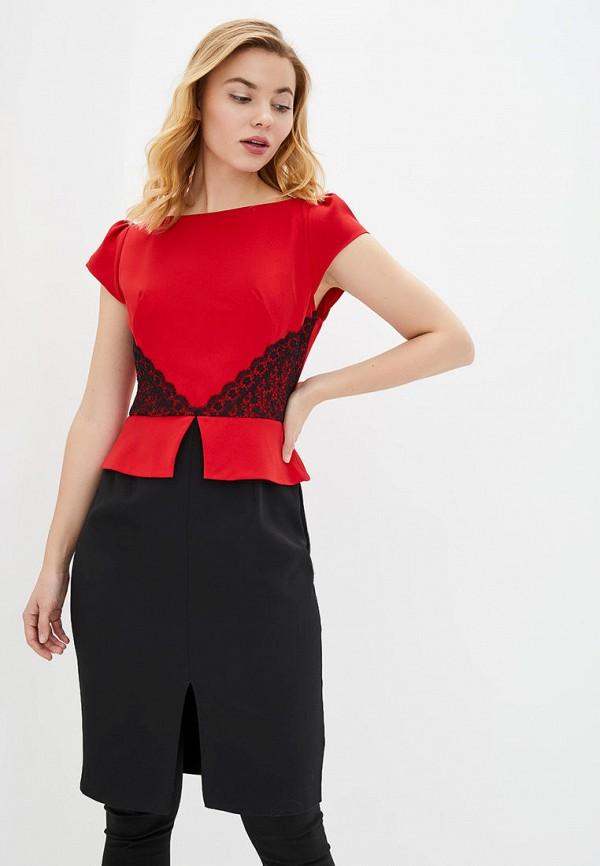 женское платье-футляр arefeva, красное