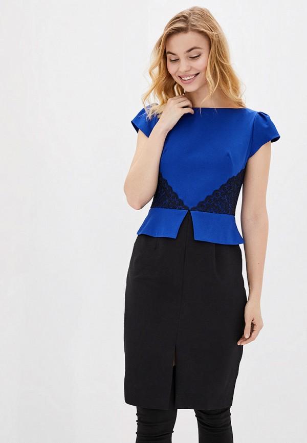 женское платье-футляр arefeva, синее