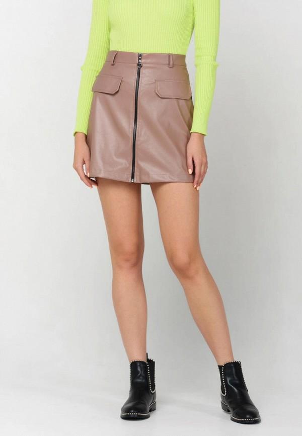 женская юбка ricamare, бежевая