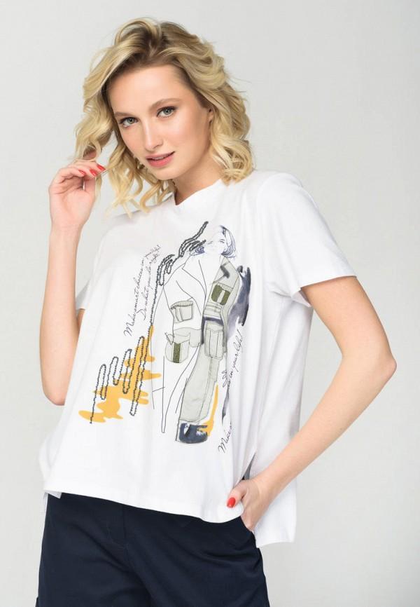 женская футболка ricamare, белая