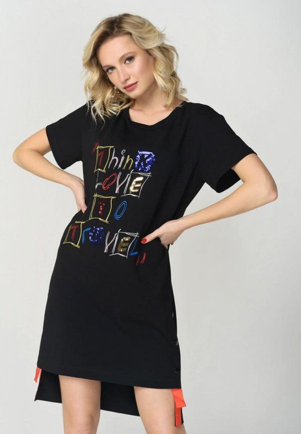 женское платье ricamare, черное