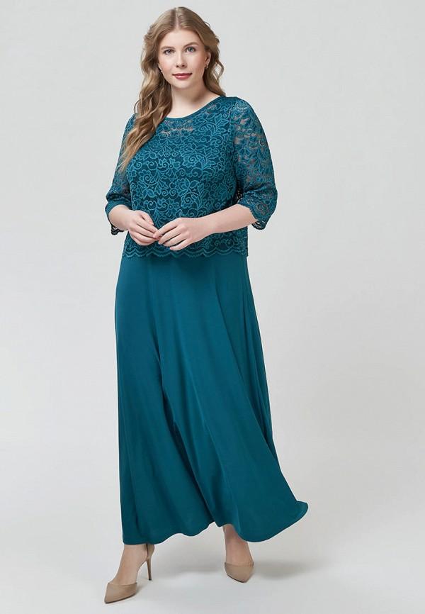 женское вечерние платье olsi, бирюзовое