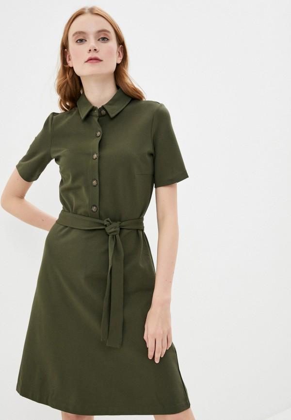 женское платье мини zarina, хаки