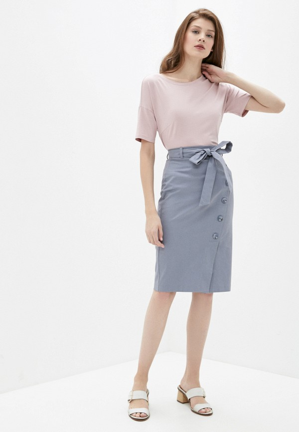 Фото 2 - Женскую юбку Argent серого цвета