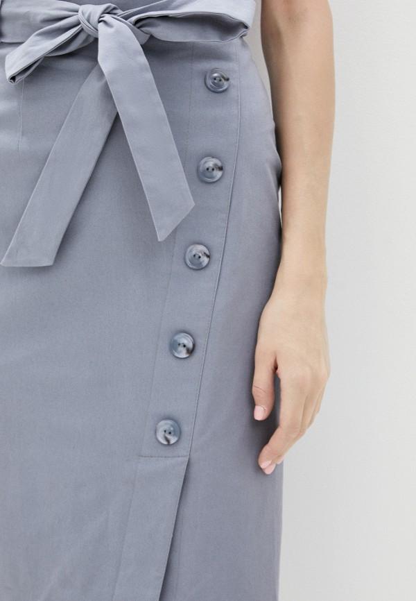 Фото 4 - Женскую юбку Argent серого цвета