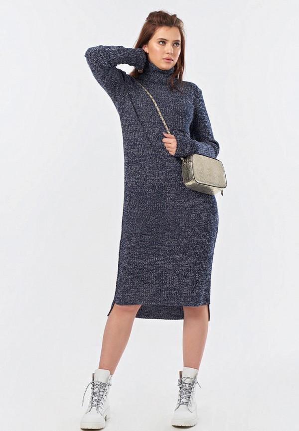 женское платье-свитеры fly, синее