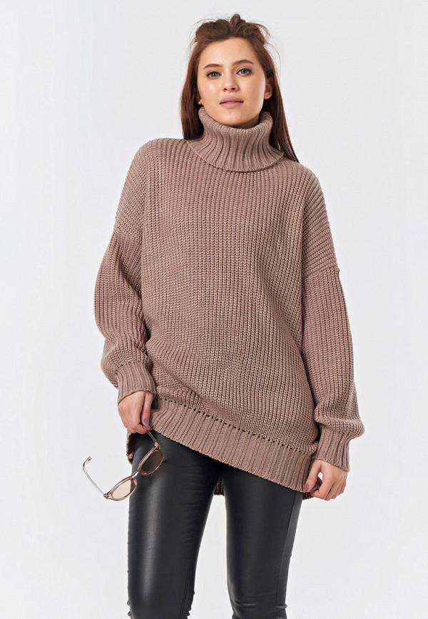 женский свитер fly, коричневый