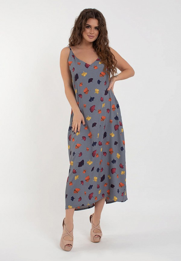 женское повседневные платье modna anka, серое
