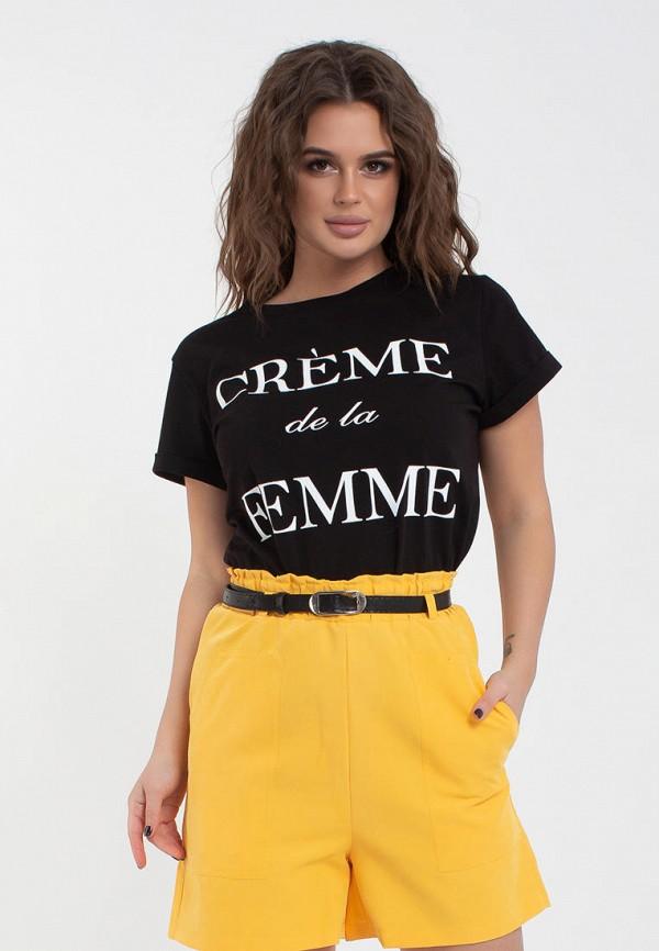 женская футболка modna anka, черная
