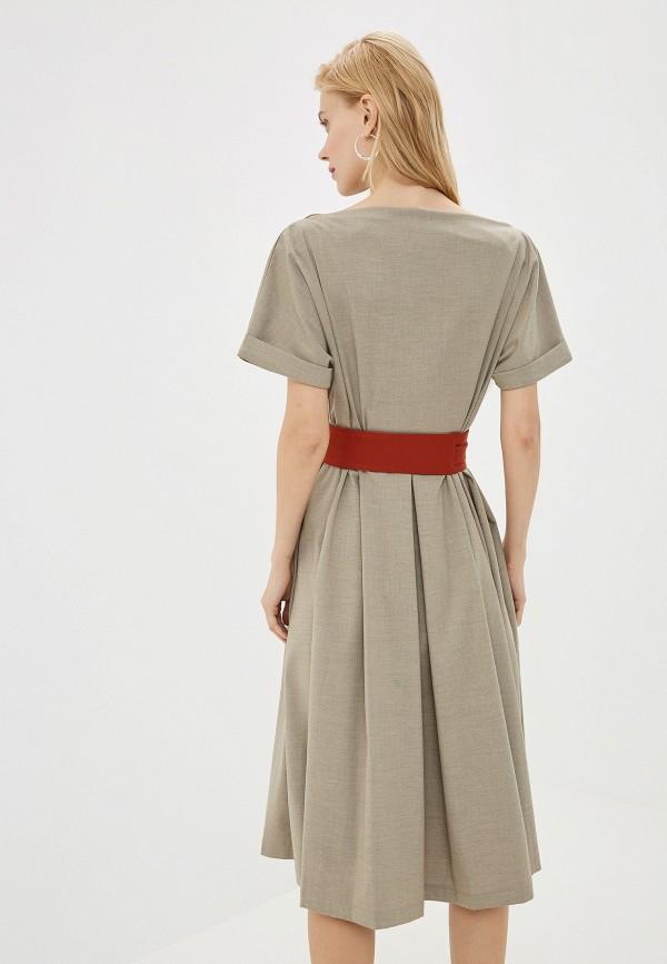 Фото 3 - Женское платье Ummami бежевого цвета