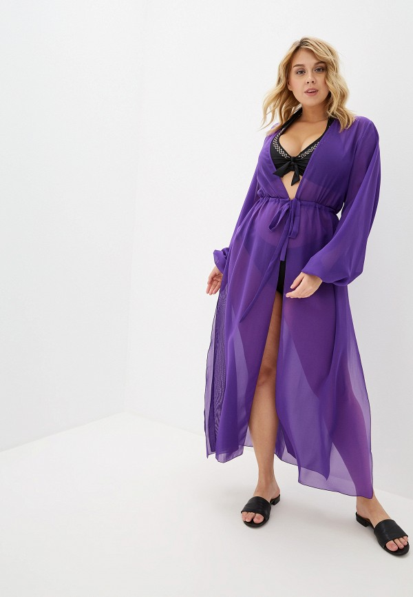 Фото - Тунику пляжная Donatello Viorano фиолетового цвета