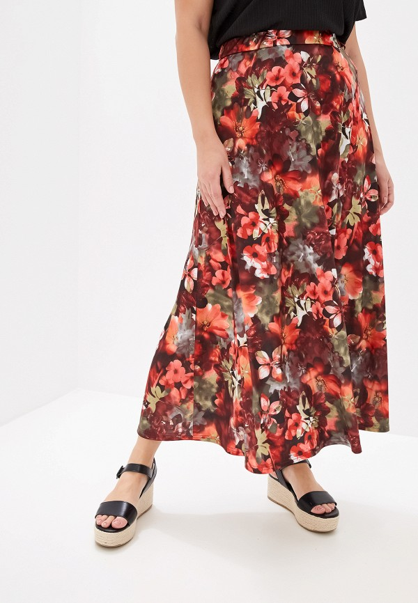 женская юбка космея, разноцветная